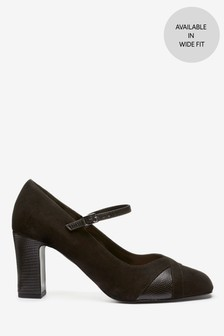 Black Mary Jane Court Shoes