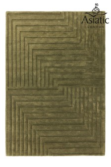Asiatic Rugs Green Form Wool Rug