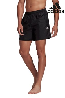 adidas Black 3 Stack Solid Swim Shorts