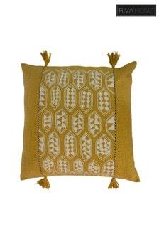 Sequoia Geo Tribal Tassel Cushion by Riva Home