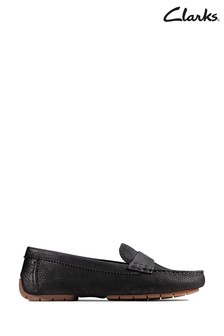 Clarks Black Nubuck C Mocc Shoes