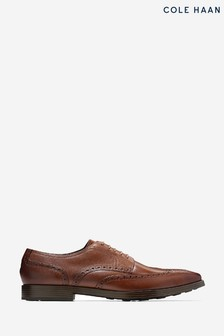 Cole Haan Brown Jefferson Grand Wingtip Oxford Shoes
