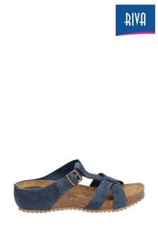 Riva Blue Becky Slip-On Mules