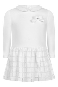 Baby Girls White Embroidered Dress