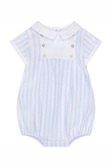 ثوب أطفال قطن أزرق للأولاد البيبي