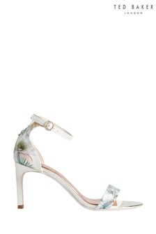 Ted Baker White Printed Heel Sandals