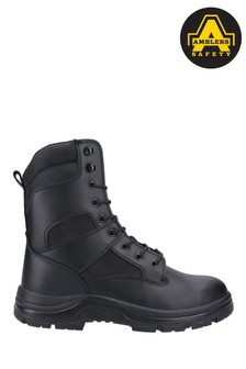 Amblers Safety Black FS008 Water Resistant Hi Leg Lace-Up Safety Boots
