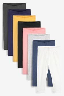 Multi 8 Pack Cotton Leggings (3mths-7yrs)