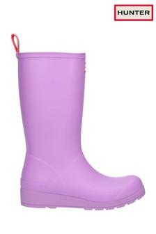 Hunter Purple Original Play Tall Wellington Boots