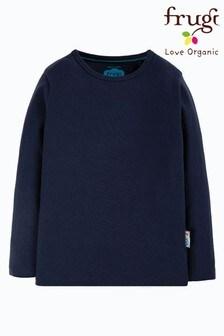 Frugi Plain Navy Organic Cotton T-Shirt