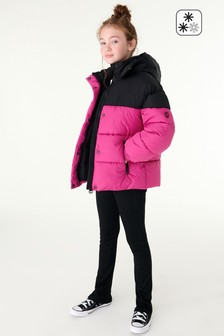 Pink Shower Resistant Short Padded Jacket (3-16yrs)