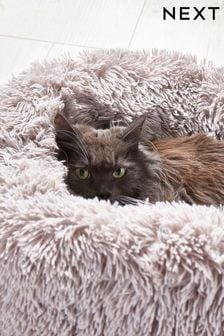 Faux Fur Grey Pet Bed