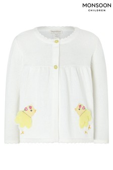 Monsoon Cream S.E.W. Baby Organic Chick Cardigan