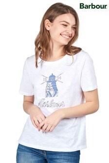 Barbour® Coastal White Windmill Logo Dover T-Shirt