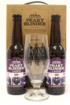 Lager 330ml And Glass Gift Set by Peaky Blinders