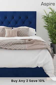 Navy Aspire Olivier Ottoman Bed