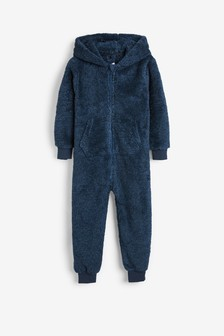 Navy Soft Touch Fleece All-In-One (3-16yrs)