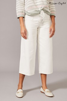 Phase Eight White Nora Denim Culottes