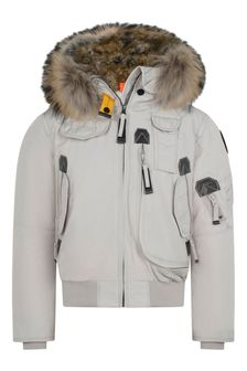 Girls Light Grey Gobi Down Padded Jacket