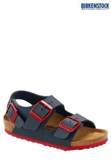 Birkenstock® Navy And Red Sandals