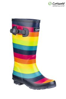 Cotswold Blue Rainbow Wellington Boots