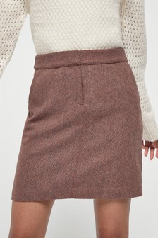 Berry Textured Mini Skirt