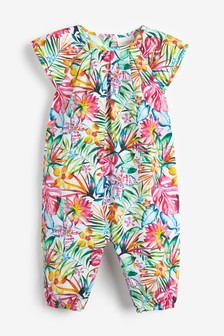 Floral Printed Woven Romper (0mths-2yrs)