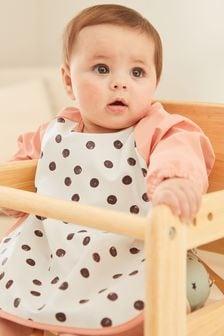 Pink Spot Sleeved Bib (Newborn)