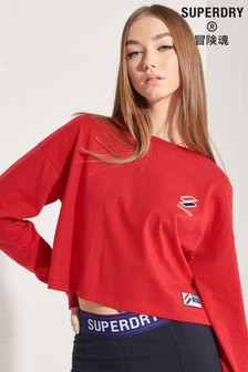 Superdry Red Sportstyle Essential Crop Top