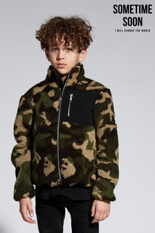 Sometime Soon Camouflage Zip Fleece