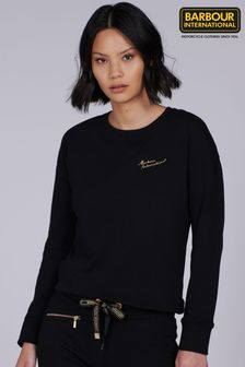 Barbour® International Script Logo Chequer Sweatshirt