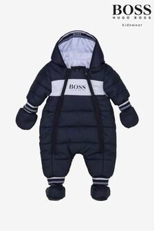 BOSS Navy Logo Snowsuit