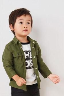 Khaki Jersey Shirt And T-Shirt Set (3mths-7yrs)