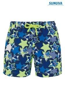 Sunuva Blue Neon Star Swim Shorts