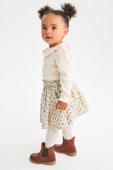 Warm Handle Floral Print Skirt (3mths-7yrs)