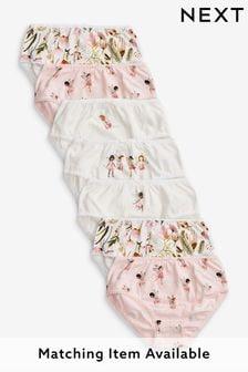 Pink /White 7 Pack Fairy Briefs (1.5-12yrs)