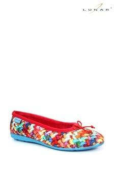Lunar Red Ladies Ballerina Slippers