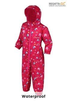 Regatta Kids Waterproof All-In-One Printed Puddlesuit