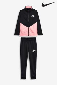 Nike Black/Pink Poly Tracksuit