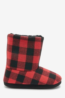 Red/Black Buffalo Check Slipper Boots (Older)