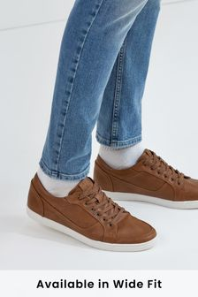 Tan Perforated Trainers