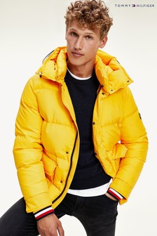 Tommy Hilfiger Yellow Down Hooded Jacket