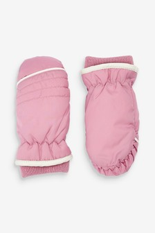 Pink Ski Mittens (Younger)