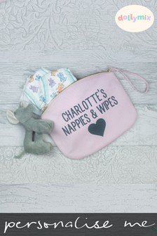 Personalised Heart Nappy Bag by Dollymix