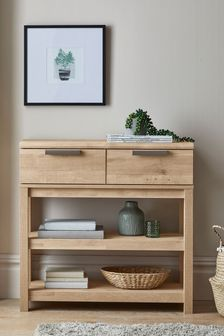 Light Oak Effect Bronx Compact Console