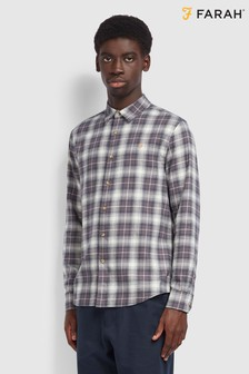Farah Grey Bushell Check Shirt