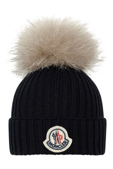 Kids Navy Wool Hat