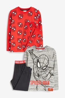 Red/Black 2 Pack Spider-Man™ Pyjamas (9mths-10yrs)