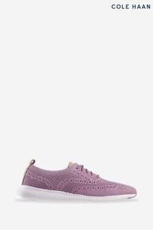 Cole Haan Purple 2.Zerogrand Stitchlite Oxford Lace-Up Shoes