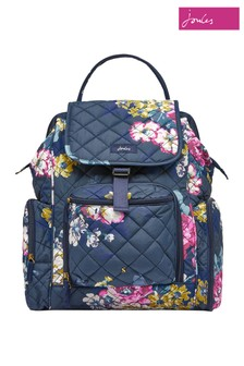 Joules Blue Dinky Quilted Changing Rucksack